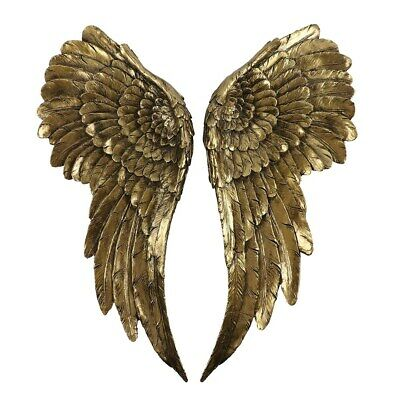 £65 • Buy LARGE ANTIQUE GOLD ANGEL WINGS Brand New Ideal Gift