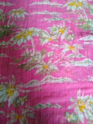 £1.99 • Buy Gap Linen And Cotton Bright Pink Print Scarf