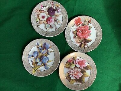 £14.90 • Buy 4x Royal Worcester Bradex Floral Illusions Plates