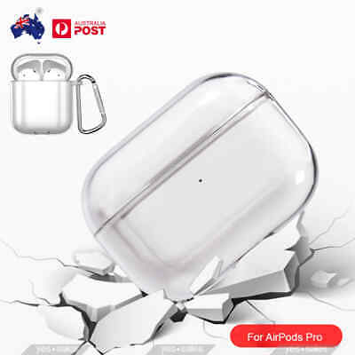 AU6.99 • Buy For Airpods Pro Case HD Transparent PC Hard Shockproof 360 Cover