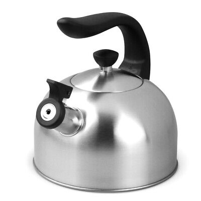 AU30.50 • Buy Boxberg 2L Whistling Kettle Stainless Steel Tea Camping Kitchen Stove Top