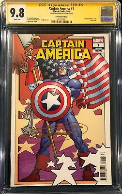 £254.17 • Buy FRANK MILLER SIGNED CAPTAIN AMERICA #1 REMASTERED EDITION CGC 9.8 Ss COMIC BOOK
