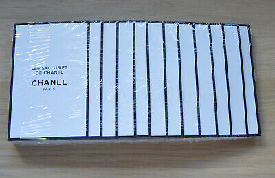 £40.01 • Buy Chanel Les Exclusifs Jersey Edp Sealed Pack Of 12 Samples X 1.5ml Each