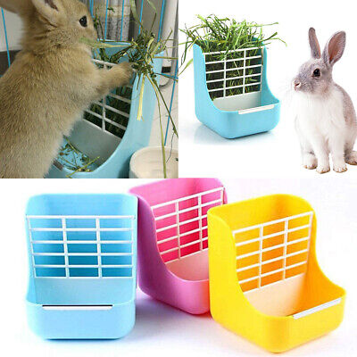 £8.59 • Buy 2 In 1 Pet Fixed Hay Frame Feeder Small Animal Supplies Rabbit Chinchillas