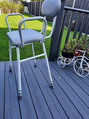 £4.99 • Buy NEW Grey & White Height Adjustable MOBILITY PERCHING GARDENING STOOL BARGAIN