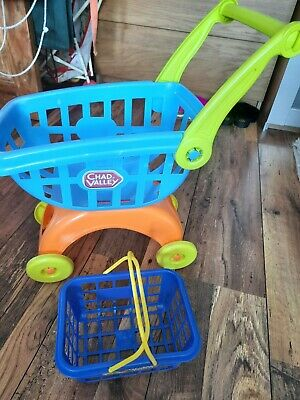 £4.99 • Buy CHAD VALLEY Push Along Shopping Trolley And Shopping Basket For Pretend Play