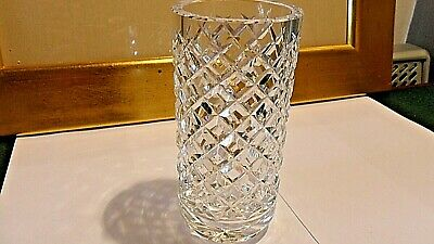 £14.99 • Buy Waterford Crystal Cylinder Vase Alana Pattern 6   Tall