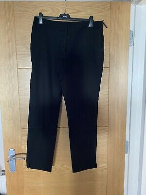 £8 • Buy Warehouse Slim Fit Black Cropped Trousers Size 14 New