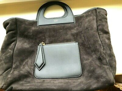 £185 • Buy Max Mara Grace Shearling Leather Tote Bag With Top Handle And Shoulder Strap