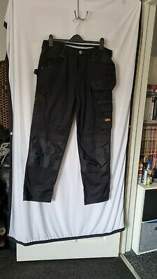 £7 • Buy ' Site ' Mens Work Trousers Black 36W 32L Cargo & Pockets