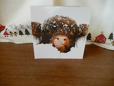 £1.85 • Buy Christmas Card Highland Cow In The Snow