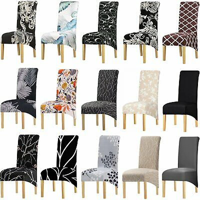 AU7.49 • Buy 1-6Pcs Stretch XL Dinning Chair Covers Seat Slipcover Spandex Washable Wedding