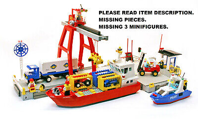 £182.88 • Buy LEGO Town Set 6542 Launch & And Load Seaport City Harbor Cargo Shipping Dock