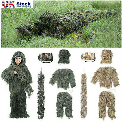 £6.99 • Buy Adult/Kids Ghillie Burlap Suit Woodland Camo/Camouflage Hunting Sniper Clothes