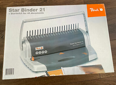 £34.99 • Buy Peach Star Binder 21 With Starter Kit For 40 Documents - Punch Comb Binder