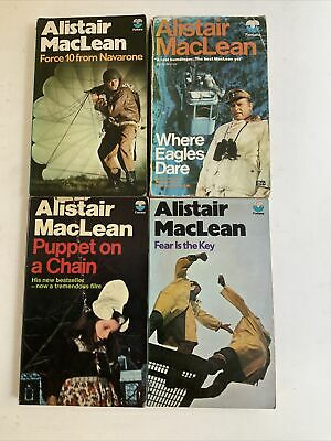£8 • Buy 4 X Alistair MacLean: Puppet On A Chain, Fear Is The Key, Where Eagles Dare N102
