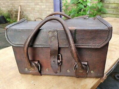 £35 • Buy Vintage Ww2 Army Leather Tool Box Bag Motorcycle Army Field War Dept