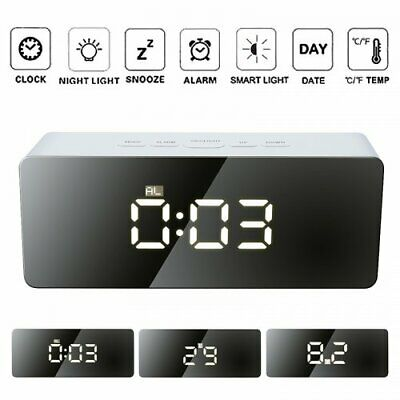 £9.99 • Buy LED Digital Projection Alarm Clock With FM Radio Projector Dimmable Clock Snooze