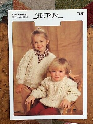 £3.20 • Buy Childrens Knitting Patterns.cardigans.jumpers.size 20-30 Inch Chest.Aran.