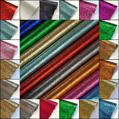£2.19 • Buy Chunky Glitter Fabric Sparkly A4 A5 Vinyl Faux Leather Craft Bag Wall Decor Bow