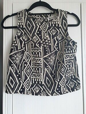 £4.99 • Buy Hearts And Bow Aztec Print Top