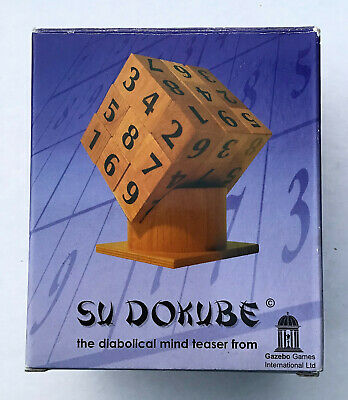 £5 • Buy SU DOKUBE Sudoku. Mind Teaser Game. 27 Cubes On Stand. Boxed & VGC.
