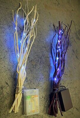 £10.75 • Buy Premier Battery Powered 40cm Twig Branch Decoration Home Indoor LED Wire Lights