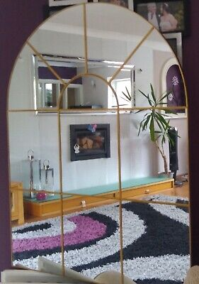 £55 • Buy Enchanted Gold Arched Window Mirror Large Gold Window Style Wall Mirror 80x60