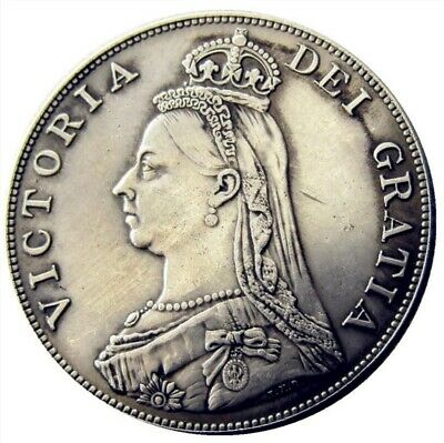 £2.20 • Buy 1888 Queen Victoria Jubilee Head Double Florin ~ Silver Plated Coin