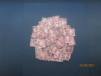 £1.24 • Buy Gb Stamps - Queen Victoria - Accumulation  Of (75+) Penny Red - Plates