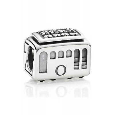 £23.19 • Buy NEW Pandora Cable Car, Clear CZ Silver Sterling Charm 791219CZ Gift Pouch