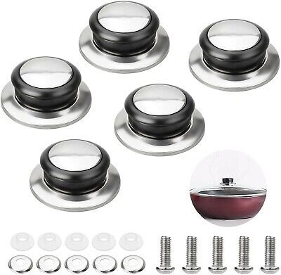£5.75 • Buy 5pcs. Universal Replacement Knob Handle For Kitchen Pot Pan Glass Lid Cover