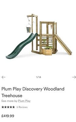 £100 • Buy Plum Play Woodland Treehouse, Wooden Climbing Frame - Collect By Sept 29th!