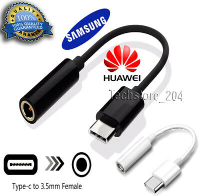 £3.49 • Buy Genuine Samsung USB Type C To 3.5mm AUX Audio Headphone Jack Cable Adapter Lead