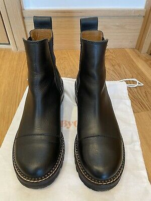 £200 • Buy See By Chloe Mallory Boots 38 Black Chelsea Boots Designer