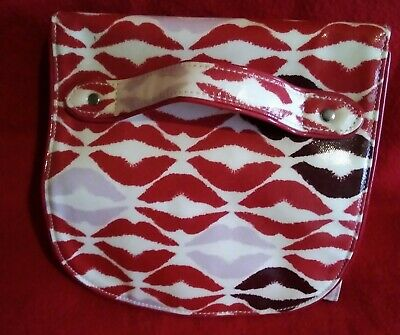 £5 • Buy LULU GUINNESS Lip Blot Cosmetic Roll (Make-up Holder Only) Stone/Red/Pink.
