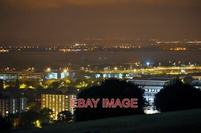 £1.85 • Buy Photo  Portsmouth Night View From Portsdown Hill Looking Across To The Water And