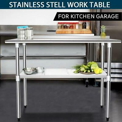 £112.99 • Buy Commercial Prep Catering Table Work Bench Kitchen Dissecting Top Stainless Steel
