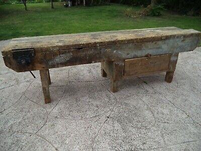 £55 • Buy Vintage Joiners Bench With Quick Release Record Vice Tool Draw And Storage.