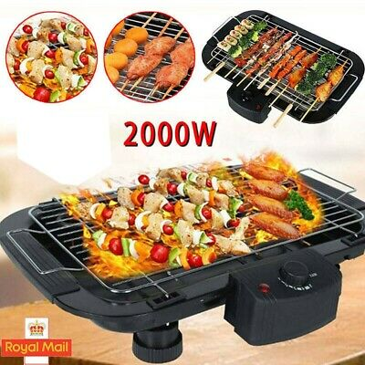 £20.49 • Buy Electric Table Top Grill BBQ Barbecue Garden Camping Cooking 1500W Indoor Or Out