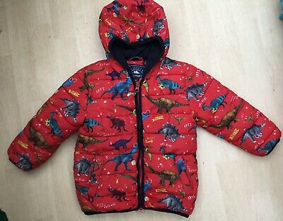 £6.50 • Buy George Age 2-3 Yrs Red Dinosaur Hooded Puffer Jacket Padded Coat