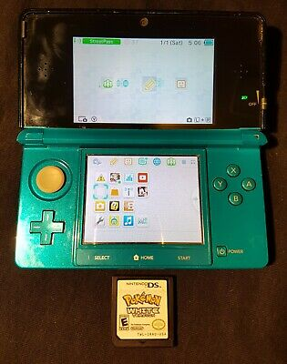 $156.73 • Buy Nintendo 3DS Console/System Aqua Blue Works Great Clean Screen, W/ Pokemon White