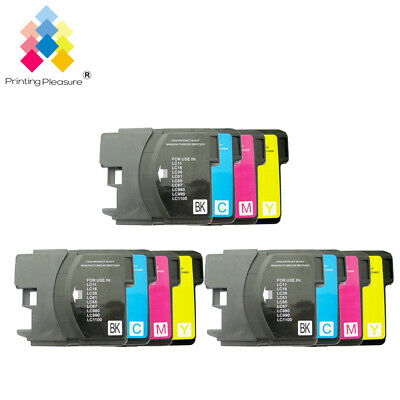 £7.39 • Buy 12 Ink Cartridge Fits Brother LC1100 DCP-395CN MFC-5895CW DCP-6690CW MFC-670CD