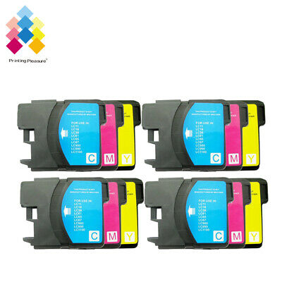 £7.39 • Buy 12CMY Ink Cartridge Fits Brother LC1100 DCP-395CN MFC-5895CW DCP-6690CW MFC670CD