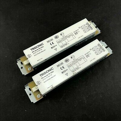 £18 • Buy 2x Tridonic PC 4x18 T8 TEC Electronic Ballast For Fluorescent 87500105