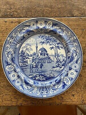 £85 • Buy Antique Dromedary Pearl Ware Plate - C1820's - Blue And White Rare Mark