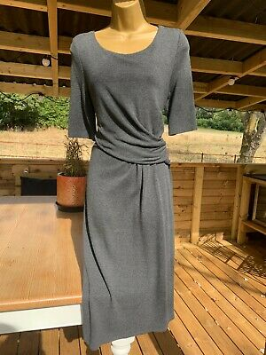 £5 • Buy Phase Eight Grey Knitted Gather Front Jumper Dress Size 14 *Worn Once*
