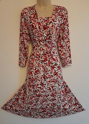 £17.50 • Buy 💜 COTSWOLDS COLLECTIONS Size Large 16 18 Beautiful Patterned Jersey Dress RefD