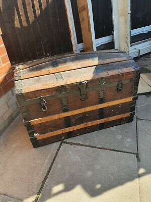 £40 • Buy Vintage Wooden Chest Trunk
