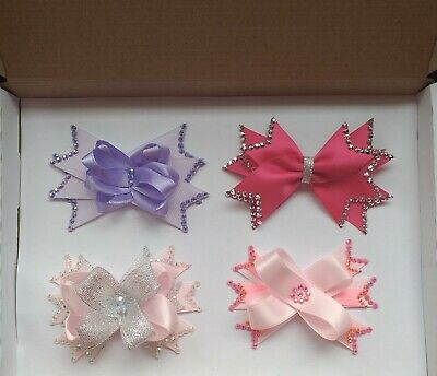£0.99 • Buy Box Of Hair Bows On Clips (Sparkly)